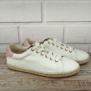 Coach C101 white leather espadrille sneaker 7.5